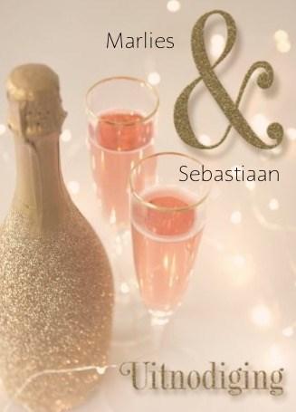Uitnodiging maken - champagne-uitnodiging