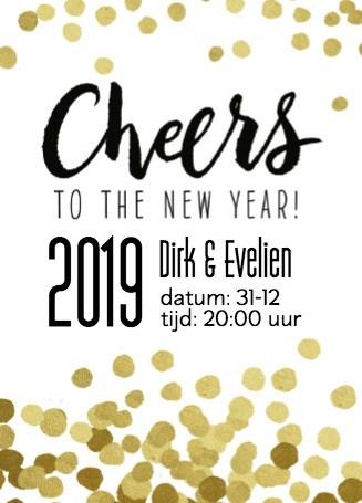 Nieuwjaarskaart - nieuwjaarskaart-cheers-to-the-new-year