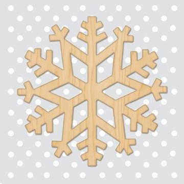 Winterkaart - sneeuwvlokje