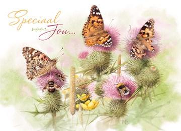 - onkruid-met-vlinders