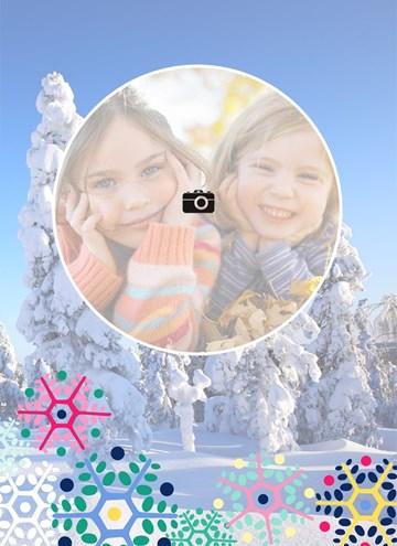 Winterkaart - fotokaart-bomen-sneeuw-