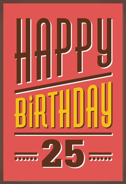 Beste Kaarten - verjaardag leeftijden - verjaardagskaart 25 jaar | Hallmark AB-86