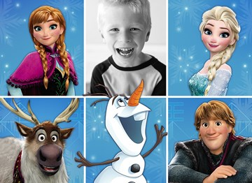Disney kaart - foto-blanco-frozen-kids