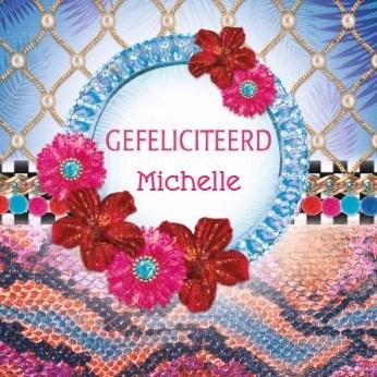 Felicitatiekaart - la-mystique-diamanten-slangenhuid-bloemen
