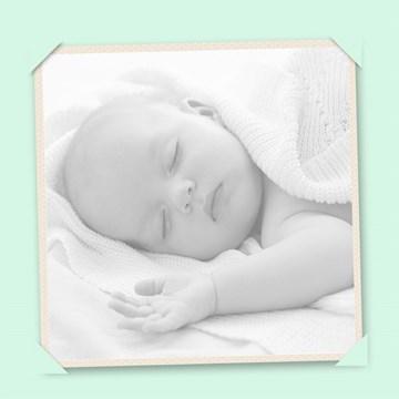- fotokaart-baby-groene-rand