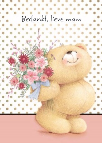 - forever-friends-beertje-geeft-een-moederdagboeket-om-zijn-mama-te-bedanken