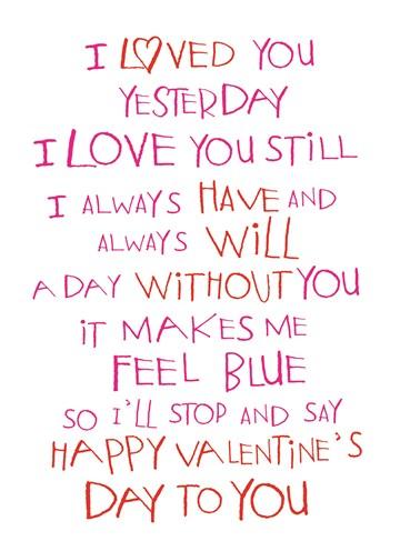 valentijnskaart - i-always-have-loved-you
