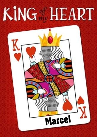 Valentijnskaart - king-of-my-heart