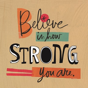 Beterschapskaart - motivatie-believe-strong