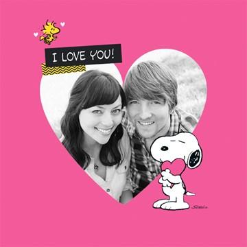 Snoopy kaart - snoopy-i-love-you