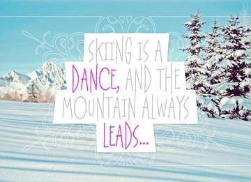 Winterkaart - skiing-is-a-dance