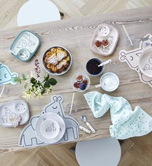 Done by Deer Silicone Placemat Grey
