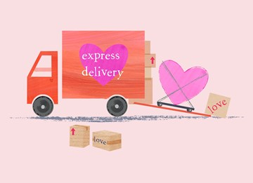 valentijnskaart - love-with-express-delivery