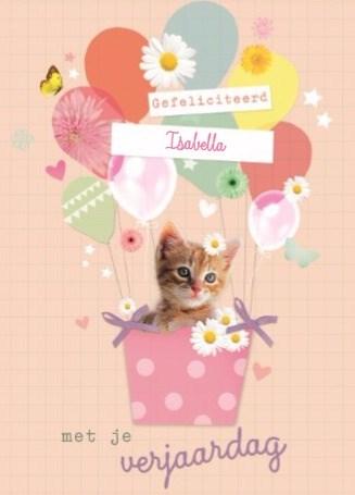 verjaardagskaart meisjes - prodo-dieren-gefeliciteerd-met-je-communie