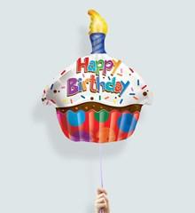 Ballon Happy Birthday Cupcake