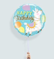 Ballon Verjaardag Alpaca