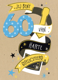 60 jaar man Verjaardagskaart Man 60 Jaar   ARCHIDEV 60 jaar man