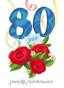 gefeliciteerd 80 jaar Kaart Gefeliciteerd 80 Jaar   ARCHIDEV gefeliciteerd 80 jaar
