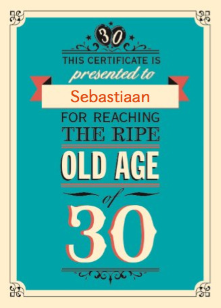 verjaardag 30 jaar man Verjaardagskaart 30 Man   ARCHIDEV verjaardag 30 jaar man