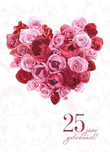 Uitzonderlijk Felicitatie 25 Jaar Huwelijk - ARCHIDEV @QJ04