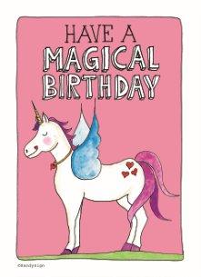 verjaardag vrouw unicorn
