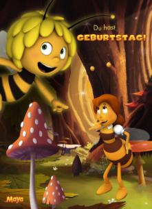 Geburtstagskarten Kind Junge   Die Biene Maja