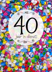 jubileum 40 jaar werk Felicitatie 40 Jaar Jubileum   ARCHIDEV jubileum 40 jaar werk