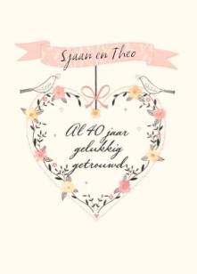 40 jaar e card E Card 40 Jaar Huwelijk   ARCHIDEV 40 jaar e card