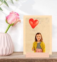houten fotokaart beeld